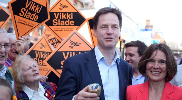 Leader of the Liberal Democrats Nick Clegg.