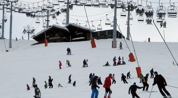 A seven-year-old boy has died while skiing in the French Alps.