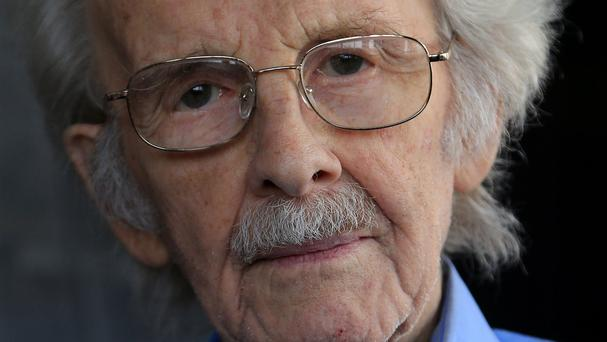 Stanley Evans, 93, at his home in London, as Solomon Bygraves was jailed after mugging him for five pounds in January