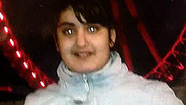 Evelin Mezei, 12, who was last seen with a unknown man in London late last night.