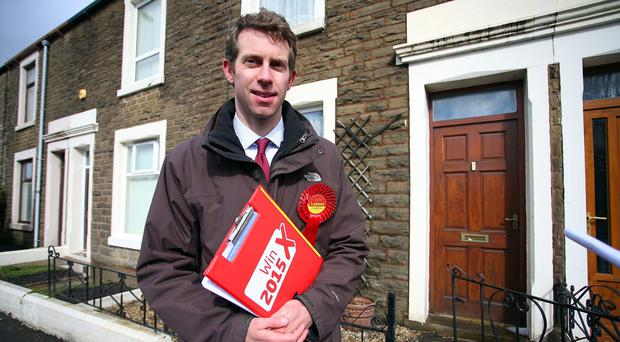 Will Straw, Labour candidate for Rossendale and Darwen, on the campaign trail