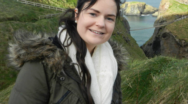 Karen Buckley at Carrick-a-Rede Rope Bridge
