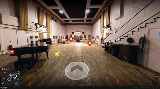 The Inside Abbey Road web app takes users on an interactive, immersive and hugely detailed virtual tour of the inner workings of Abbey Road (Google/PA)