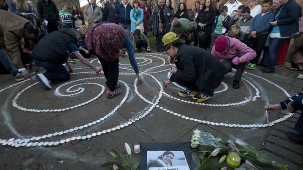 People attended a silent vigil in Glasgow for Irish student Karen Buckley