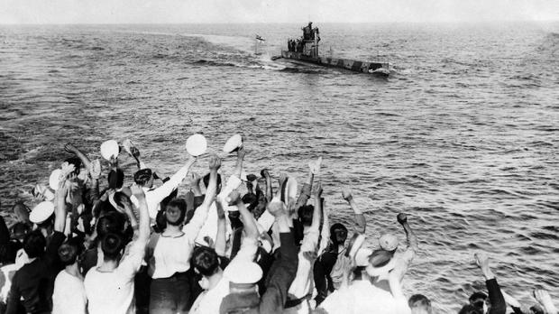 Submarine E11 returning from a patrol in the Dardanelles (PA/Stephen Chambers Collection)