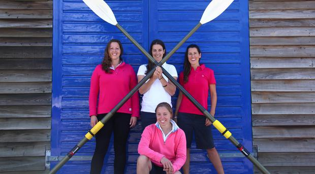 Isabel Burnham, left, Laura Penhaul, centre, Natalia Cohen, right, and Emma Mitchell are setting off on one of the most challenging expeditions on the planet (Carver PR/PA)