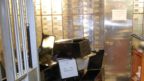 The inside of the vault at the Hatton Garden Safe Deposit company which was robbed over the Easter weekend (Metropolitan Police/PA)