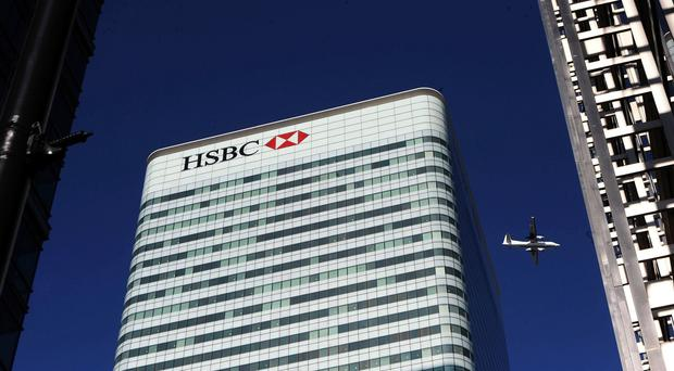 The HSBC Tower in Canada Square, Canary Wharf, London