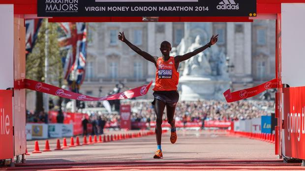 Kenya's Wilson Kipsang is bidding to become the fourth man to win three London Marathon titles