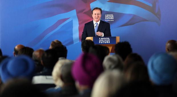 David Cameron will set out a timetable for the first 100 days of a Conservative majority government.