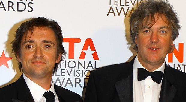 Top Gear presenters Richard Hammond and James May were among those selling motorcycles