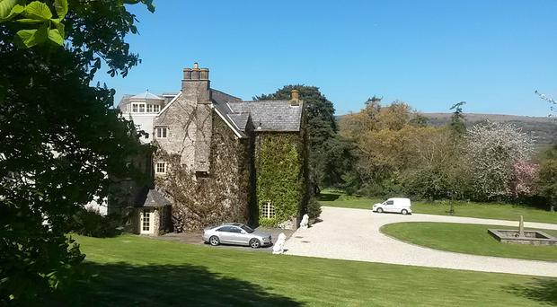 Georgian-style manor Llanwenarth House in the Usk Valley, south Wales