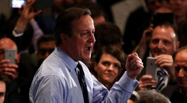 David Cameron pledged to fight the election campaign