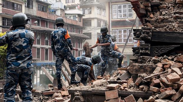 Rescue work in Kathmandu following the earthquake which left thousands dead in Nepal (International Federation of Red Cross/PA)