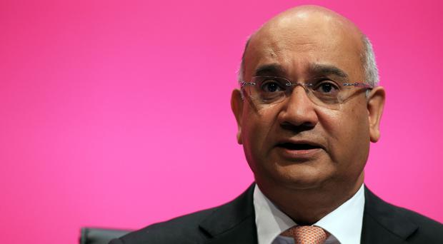 A loud hailer attached to a Labour campaign car broadcast the voice of candidate Keith Vaz