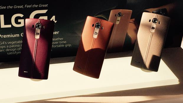 Genuine leather rear covers for the new LG G4