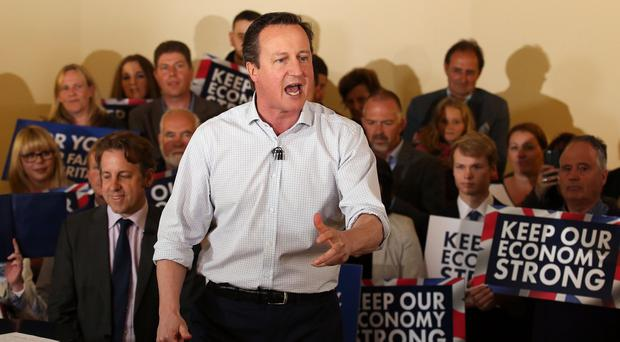 David Cameron says it is time to throw caution to the winds as the election campaign enters its final week