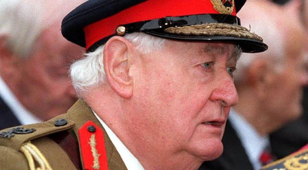 Lord Bramall has been interviewed under caution by police officers investigating claims of historic child abuse