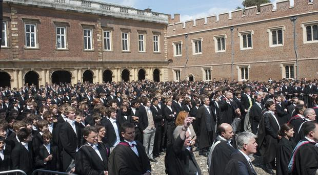 Private schools such as Eton are attracting record numbers of pupils, research suggests