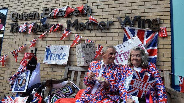 The wait for the arrival of the Duke and Duchess of Cambridge's second child continues outside the Lindo Wing of St Mary's Hospital in Paddington, London