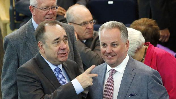 Lord McConnell (right) allowed Alex Salmond to form a Scottish government after the SNP won one more seat than Labour