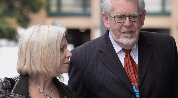 Rolf Harris with his daughter Bindi who is petitioning for a review of his case