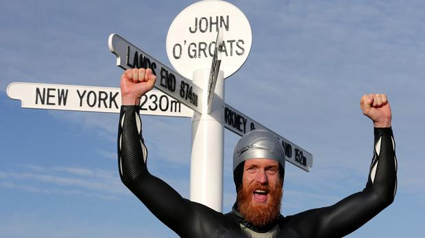 File picture of Sean Conway who has completed the ultimate British triathlon.