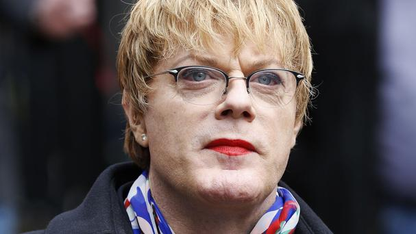 Eddie Izzard joined the Labour election campaign in Scotland