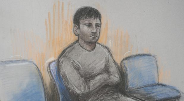 Sketch by court artist Elizabeth Cook of financial trader Navinder Singh Sarao who is fighting extradition to the US