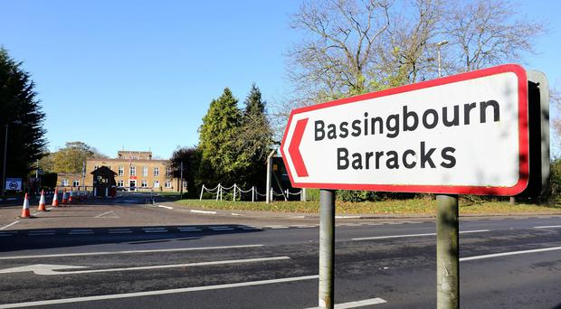 The two men were arrested while undergoing training at Bassingbourn Barracks in Cambridgeshire