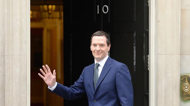 George Osborne arrives at 10 Downing Street, London, following the Conservatives' victory in the General Election