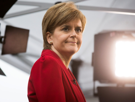 Bullish: Nicola Sturgeon