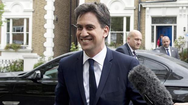 Ed Miliband arrives at his home in north London following his resignation