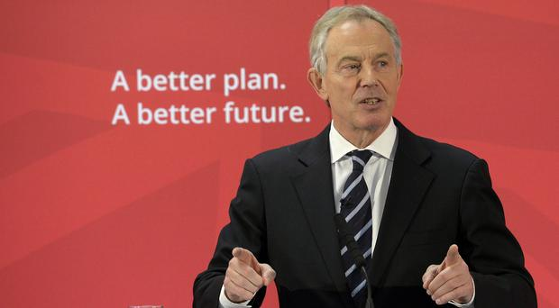 Former prime minister Tony Blair says Labour must reclaim the political centre ground.