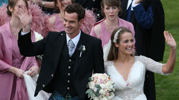 Andy Murray married long-term girlfriend Kim Sears last month