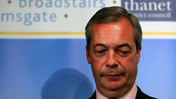Nigel Farage promised he would stand down if he failed to win a seat