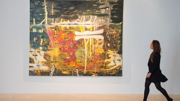 Swamped broke a personal record for a painting by Peter Doig