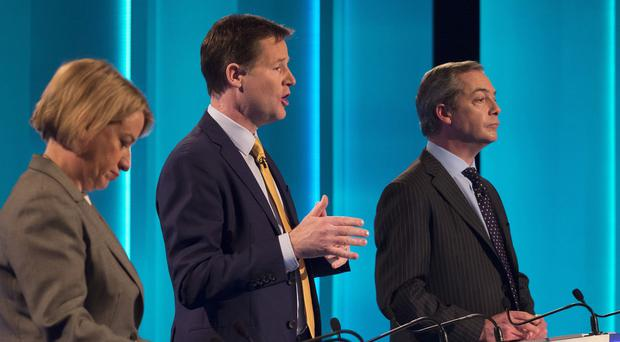Natalie Bennett (left) and Nigel Farage (right) both expressed frustration at the voting system