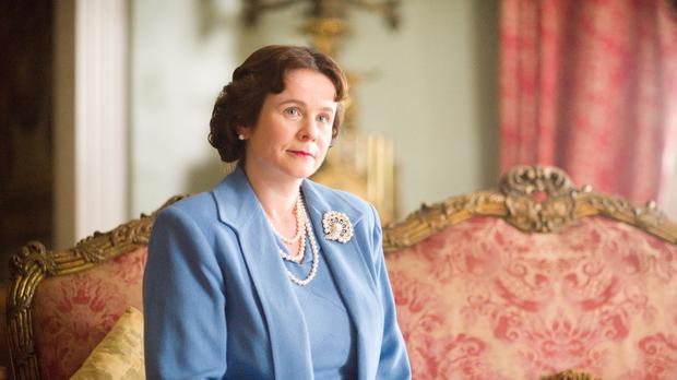 Emily Watson plays the Queen Mother in A Royal Night Out