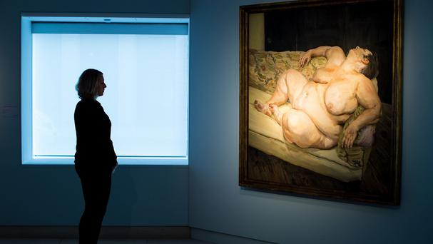 Benefits Supervisor Resting by Lucian Freud has sold for £35.7 million