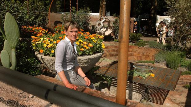 Sarah Eberle created a Best of Show garden, 600 Days With Bradstone, at Chelsea Flower Show in 2007
