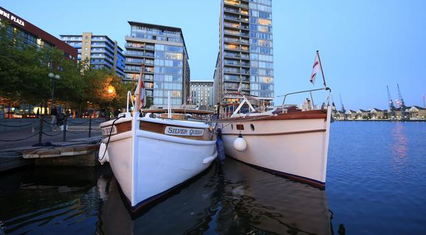 Dunkirk Little Ships gather at Royal Victoria Dock to help mark the 75th anniversary of the great rescue
