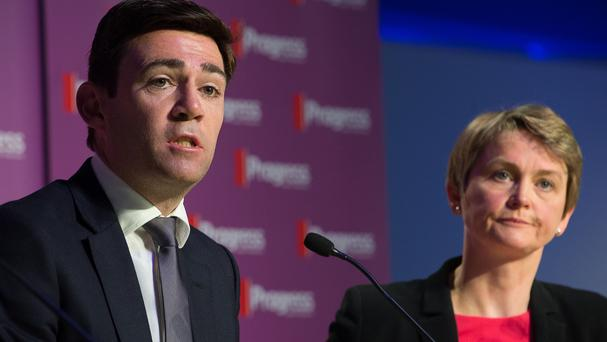 Andy Burnham, pictured speaking at the Progress annual conference, warned things could get even worse for Labour