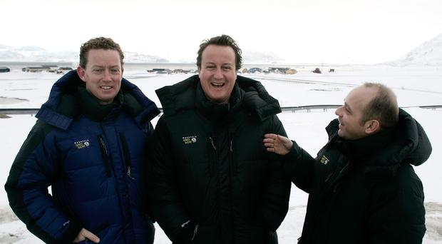 Steve Hilton (right) with David Cameron on a visit to the Arctic