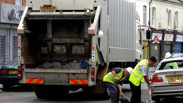 Biffa said its crews found 93 people sleeping in industrial-sized wheelie bins last year