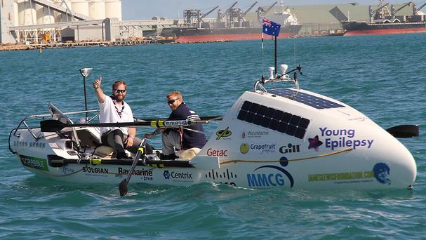 James Ketchell and Ashley Wilson set out from Geraldton in Western Australia