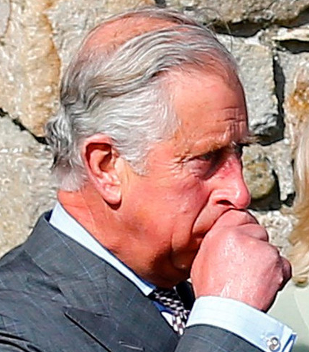 An emotional Prince Charles during the visit to Mullaghmore