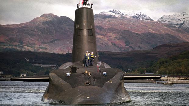 The Royal Navy's Trident-class nuclear submarine Vanguard