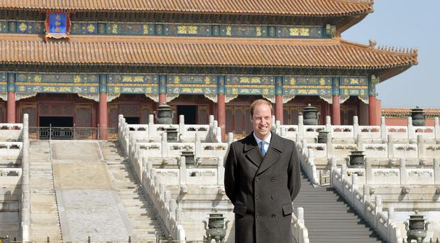 The Duke of Cambridge delivered the invitation to China's president during his own visit to Beijing