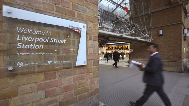London's Liverpool Street railway station